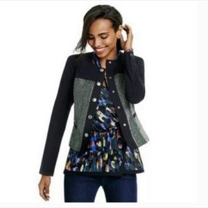Cabi #3036 Women's mixed media Jacket medium Snap